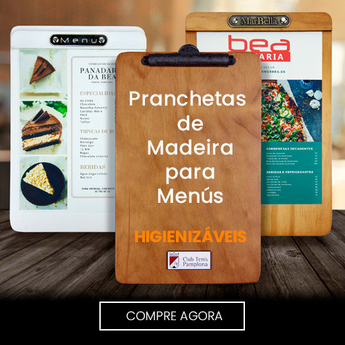 Pranchetas de Madeira para Menús